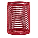 Ultra Play 32-Gal. Diamond Red Commercial Park Trash Receptacle Portable