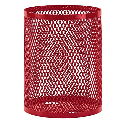 - Ultra Play 32-Gal. Diamond Red Commercial Park Trash Receptacle Portable