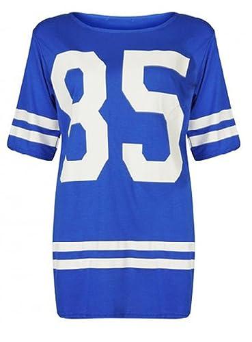 Fashion New la casa Royal de para mujer azul 85 de tamaño maxi Varsity de balón de fútbol americano ...