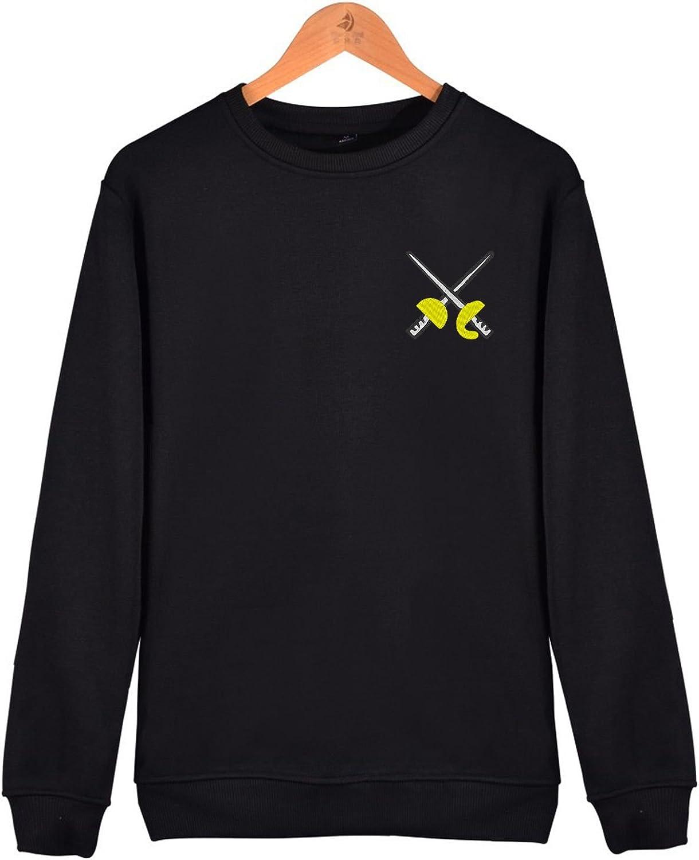 BoToKiNo Fencing Swords Mens Sweatshirt Sweater Crew Neck Pullover