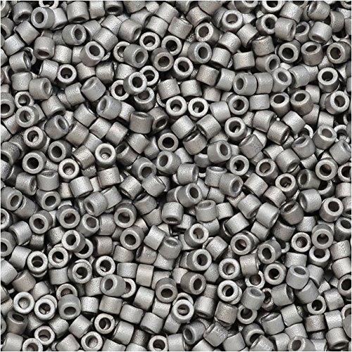 Miyuki Delica Seed Beads, 11/0 Size, 50 Gram Bulk Bag, Matte Palladium Plated DB336 ()