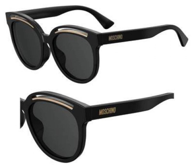Sunglasses Moschino Mos 43 //F//S 0807 Black//IR gray blue lens