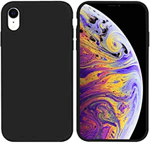 Matte Plastic Flexible Protection Cover for Apple iPhone XR (Black)