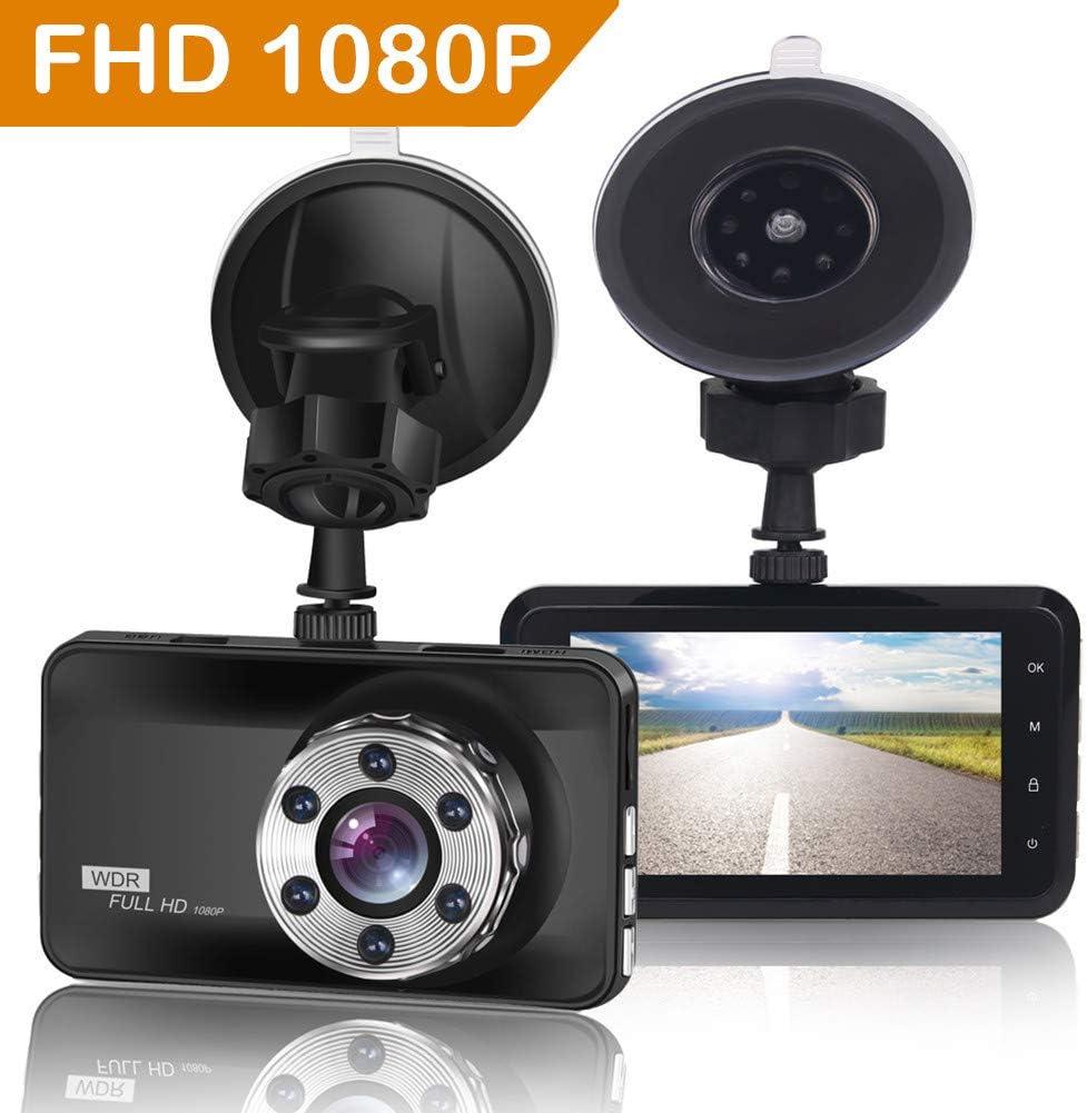 ORSKEY Dash Cam 1080p Full HD Caméra de Voiture Tableau de Bord Camera Enregistreur vidéo 170 Grand Angle WDR avec écran LCD 7,6 cm Vision Nocturne Détection de Mouvement et capteur G