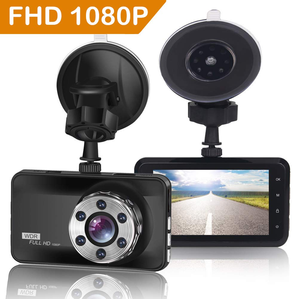 ORSKEY Dash Cam 1080P Full HD Car Camera DVR Dashboard Camera Video Recorder In Car Camera Dashcam for Cars 170 Wide Angle WDR with 3.0' LCD Display Night Vision Motion Detection and G-sensor