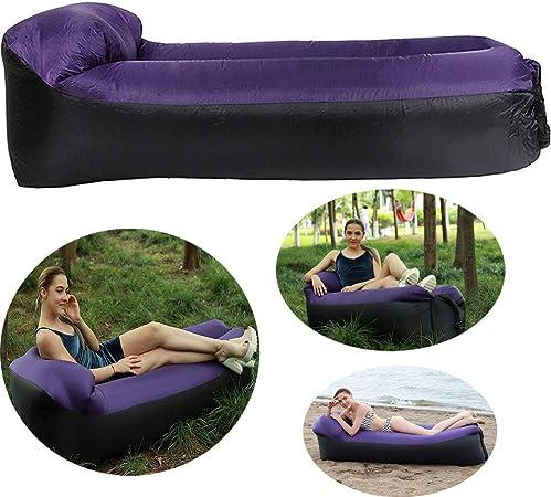 iStyle Tumbona Hinchable de Aire Impermeable con Almohada integrada para sofá de Aire, Silla de Cama, tumbonas para Dormir, para Piscina, Playa, Viajes, Camping, Picnic, jardín.: Amazon.es: Hogar