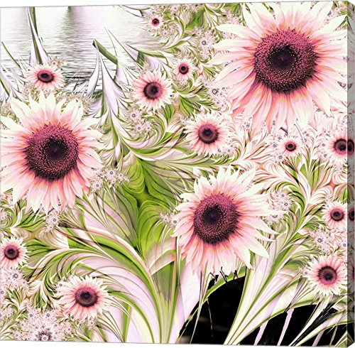 Water Sunflowers by Mindy Sommers Canvas Art Wall Picture, Gallery Wrap,