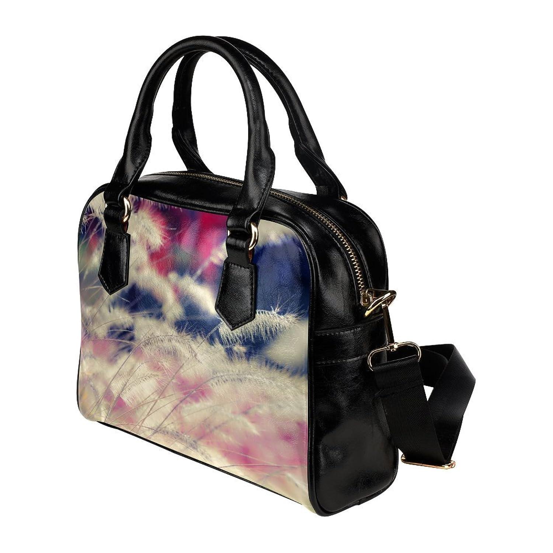 meincare Women's Phragmites PU leather Aslant Shoulder Tote Handbags