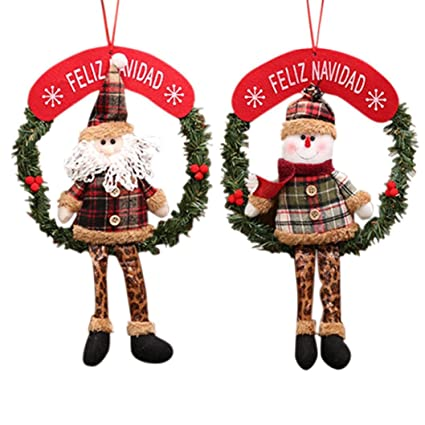 Amazon Com Welcomeuni Christmas Decor Xmas Door Wreath Christmas