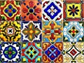 SnazzyDecal Tile Stickers 4x4 inch Kitchen Backsplash Bathroom Vinyl Waterproof Peel and Stick Mexican Talavera TR001