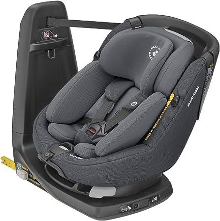 Oferta amazon: Maxi-Cosi Axissfix Plus Silla de coche giratoria 360° isofix, silla auto reclinable y contramarcha, con reductor bebé recién nacido, 0 meses - 4 años, color authentic graphite