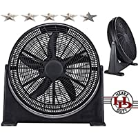 "20"" High-Velocity Home Cooling Power Fan Superior Air Flow Tilt Power Fan Black Color - Get Blown Away"