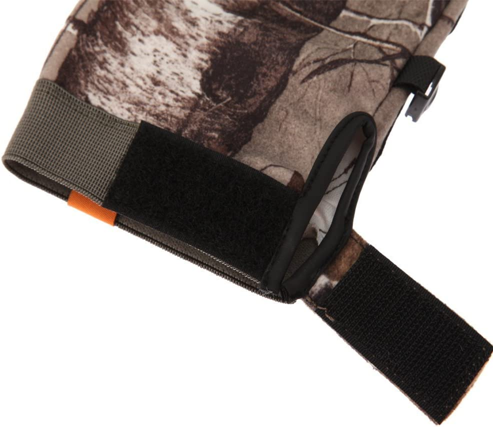 SPIKA Camouflage Hunting Full Finger and Fingerless Gloves for Men with Toughscreen Compatibility, Fleece and Half Finger Glove for Shooting, Driving, Fishing, Climbing : Sports & Outdoors