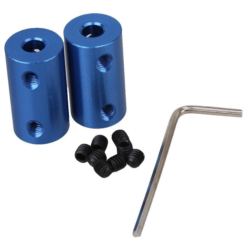 cnbtr azul Metal de aluminio Eje d14l25 acoplamiento rí gido de acoplamiento Conector Acoplador Motor 5 –  5 mm) Pack de 2 yqltd CNBTR20