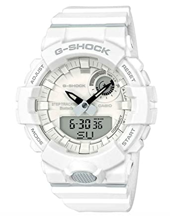30a8d6a2f14 Amazon.com  Casio GBA800-7A Men s G Squad Steptracking Bluetooth Training  White G Shock Watch  Watches