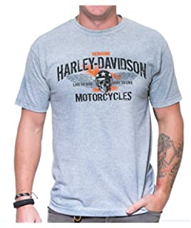Harley-Davidson Men/'s Retro Racer Short Sleeve Crew Neck T-Shirt Yellow