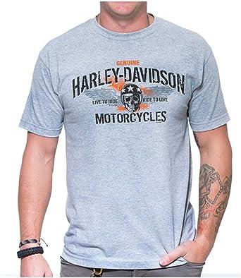 Black Harley-Davidson Men/'s Vintage Flag Crew-Neck Short Sleeve T-Shirt