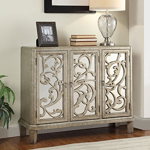Silver chests find a silver chest of drawers online - Sofa table with cabinets ...