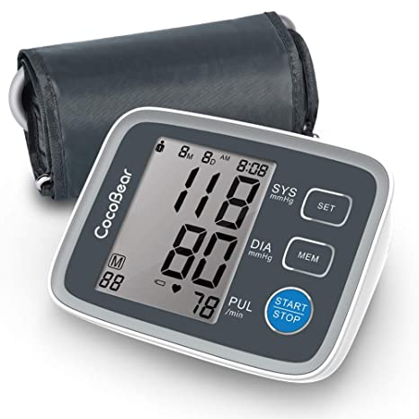 Tensiómetro de brazo, CocoBear monitor de pulsera de presión arterial de en la parte superior