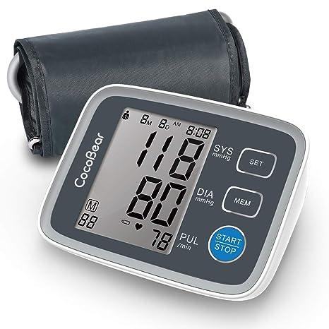 Monitor de presión arterial, monitor de pulsera de presión arterial de CocoBear en la parte