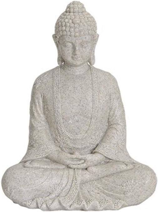 Figura de Buda meditando 25 cm en altweiss, decoración para jardín & hogar, de Buda escultura, Salón o accesorio ideal como regalo, Bella Thai Estatua: Amazon.es: Jardín