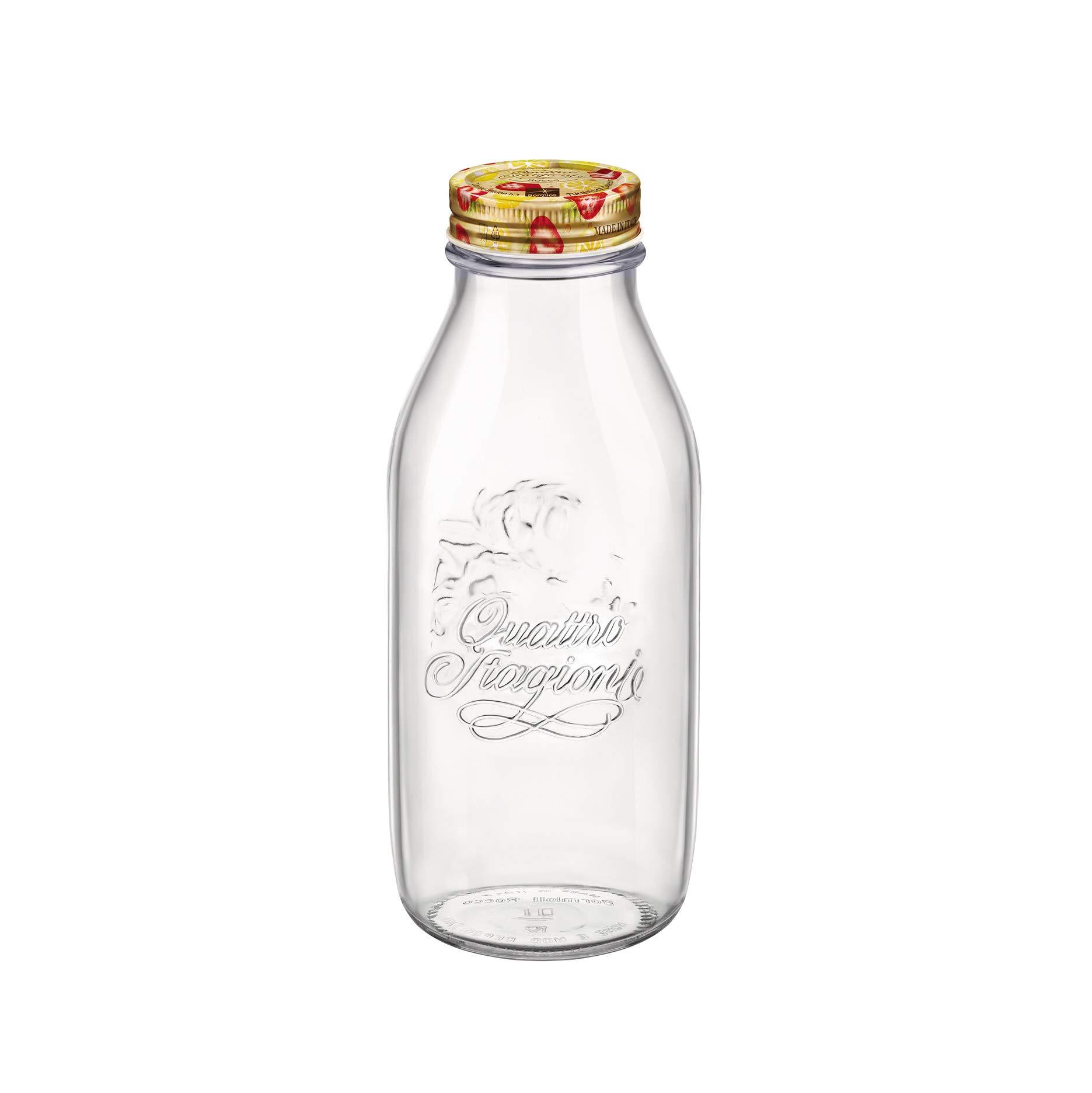 Bormioli Rocco Quattro Stagioni Tutti Frutti Bottle - 1L - 33.75 oz, Clear by Bormioli Rocco