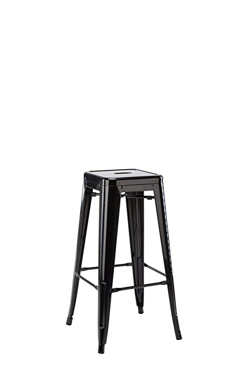 Surprising Amazon Com Hodedah 24 Counter Height Metal Bar Stool Ibusinesslaw Wood Chair Design Ideas Ibusinesslaworg