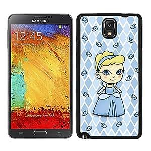 Funda carcasa para Samsung Galaxy Note 3 diseño princesa con zapatos de cristal borde negro