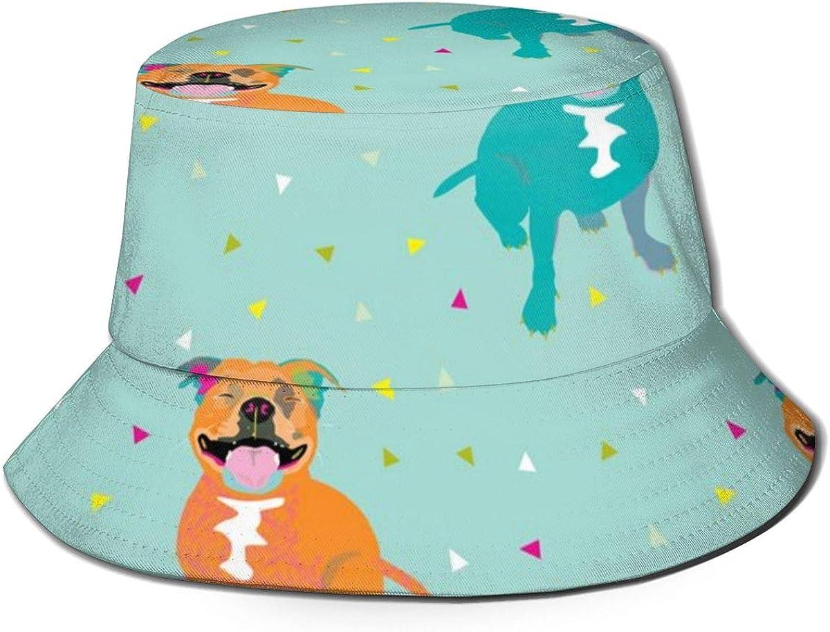 Meiya-Design Sombrero de cubo unisex, diseño de pescador feliz con estampado de cachimba de pescador de verano al aire libre plegable Cap de viaje playa sombrero de sol