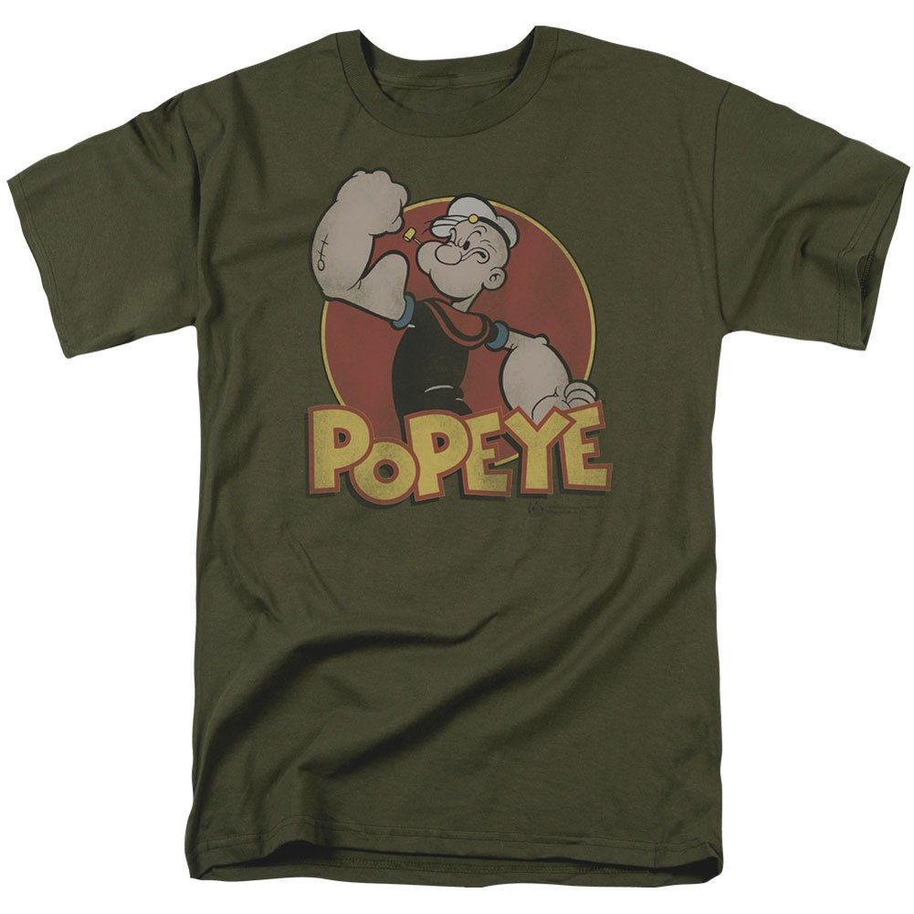 Popeye Retro Ring S S S 18 1 Military Green Shirts