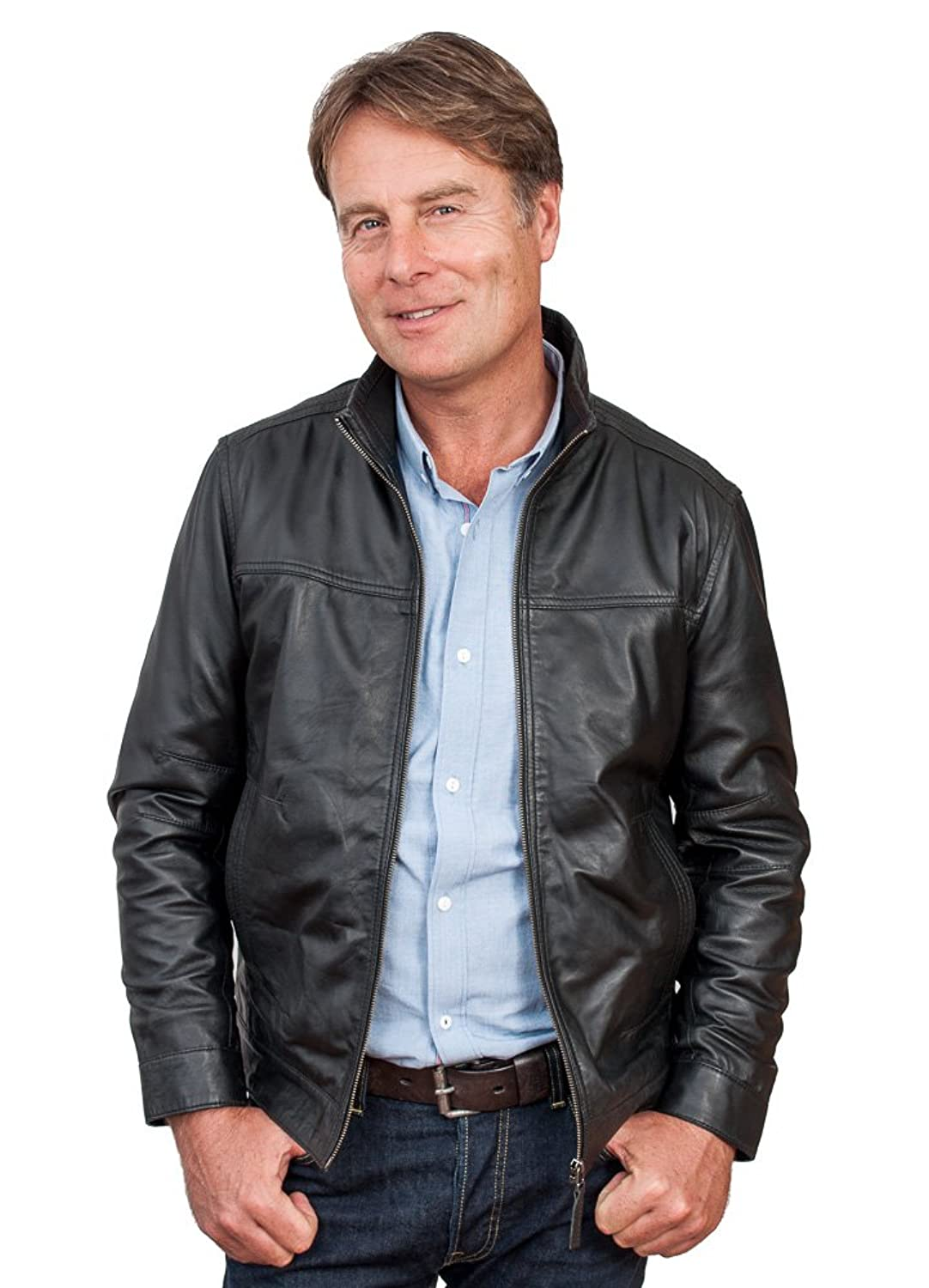 Arron Mens Quality Leather Jacket