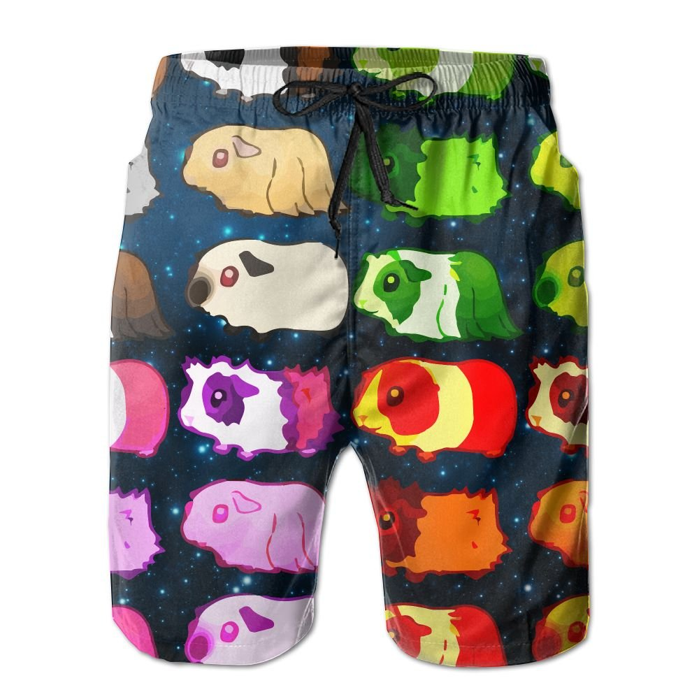 Funny Guinea Pigs Mens Basic Boardshorts XL With Pocket