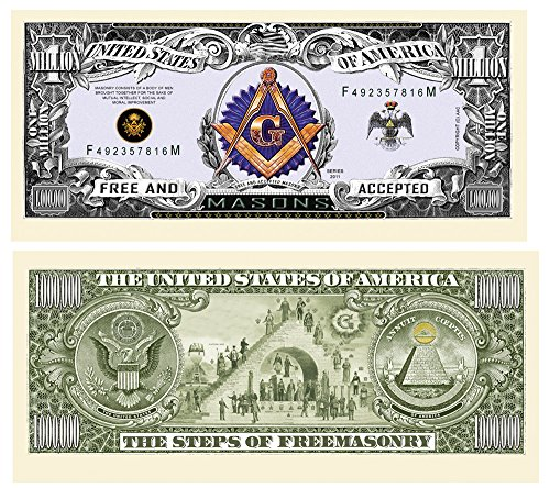 Freemason – Masonic Million Dollar Bill 10 Count Novelty