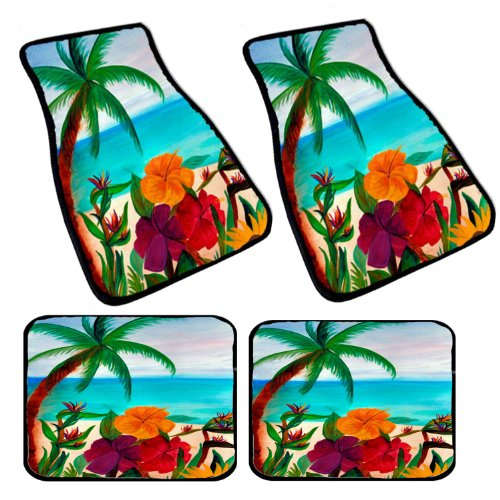 tropical car floor mats - 3