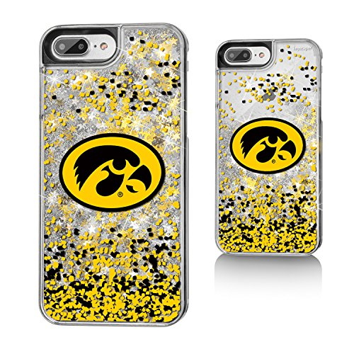 Iowa Glitter (Iowa Hawkeyes Gold Glitter Case for the iPhone 6+ / 6S+ / 7+ / 8+ NCAA)
