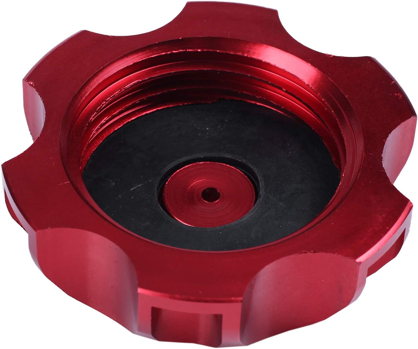 BNFUK 48mm CNC cap fuel tank vent valve CAP minimoto Quad 90cc to 125CC red