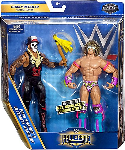 wwe-hall-of-fame-class-of-2016-2014-elite-papa-shango-ultimate-warrior-2-pack