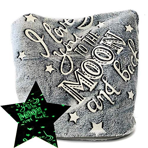 - Glow in The Dark Blanket for Kids Throw Fleece Soft Anxiety and Fuzzy Cozy Flannel 50