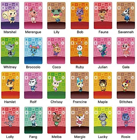 TPLGO 26 Pcs ACNH NFC Tag Mini Game Rare Character Villager Cards for New Horizons,Cards Series 1-4 for Switch/Switch Lite/Wii U with Storage Case (26 Pcs)