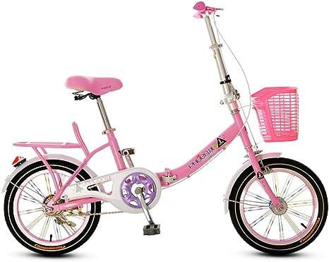 Xiaoping Bicicleta Plegable para niños, 16 Pulgadas, niña niño ...