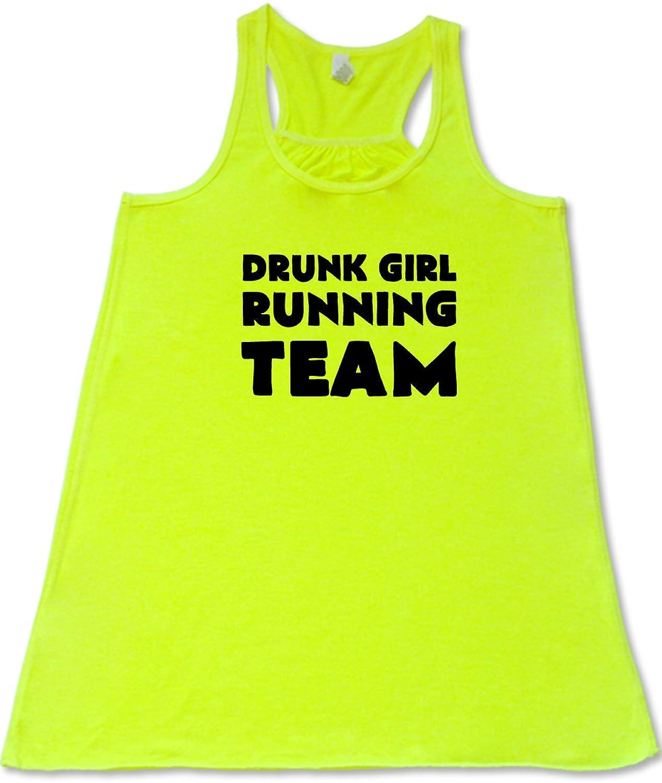 Women's Drunk Girl Running Team Tank Top - Workout Shirt