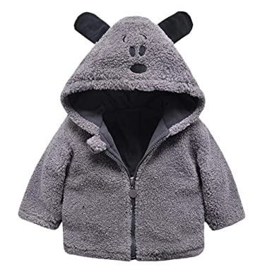 719745ceb Amazon.com  VEKDONE Baby Infant Girls Boys Autumn Winter Hooded Coat ...