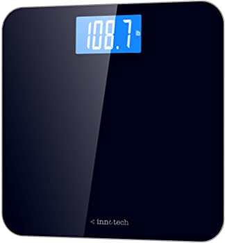 Innotech Digital Bathroom Scale with Easy-to-Read Backlit LCD