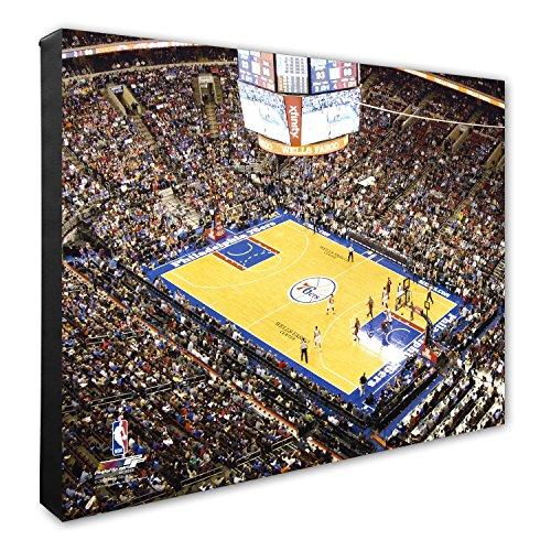 NBA Philadelphia 76ers Wells Fargo Center Basketball Arena Canvas Artwork, 16