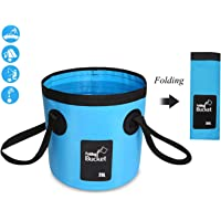 YAMAMA Portable Collapsible Bucket,Compact 20L Wash Basin ,Multifunctional Foldable Water Bucket Containe for Travelling Camping Fishing Hiking Gardening Washing