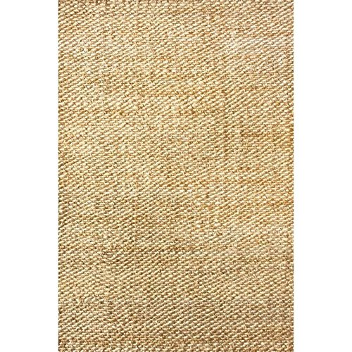 nuLOOM Natura Collection Hailey Jute Natural Fibers Solid and Striped Hand Made Area Rug, 8-Feet by 10-Feet, Natural