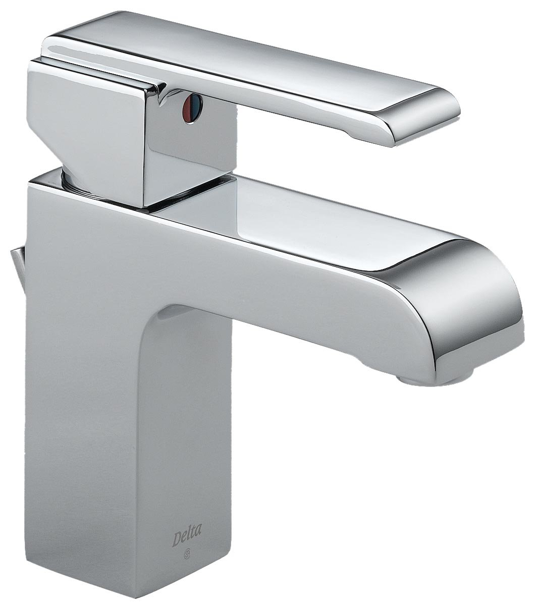 Delta 586LF MPU Arzo Single Handle Centerset Bathroom Faucet, Chrome    Touch On Bathroom Sink Faucets   Amazon.com