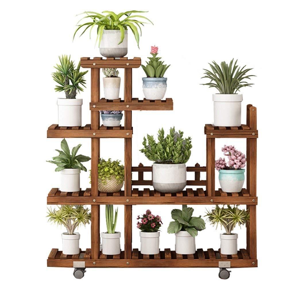 preferenziale DYGDHJ Flower Stand Multifunzione Multifunzione per Famiglie in Legno massello massello massello può spostare Il Vaso da Fiori Indoor da Pavimento  comprare sconti