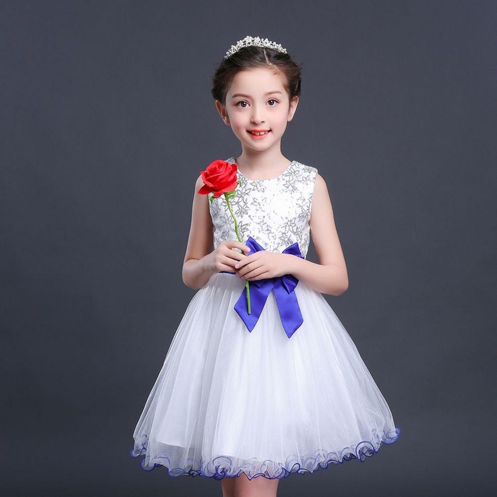 SAYM princesa mangas Little Girls una pieza vestido Verano sin ...