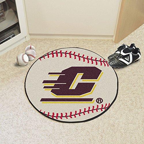 Fanmats Central Michigan University Baseball Mat/27 Diameter Central Michigan University Baseball